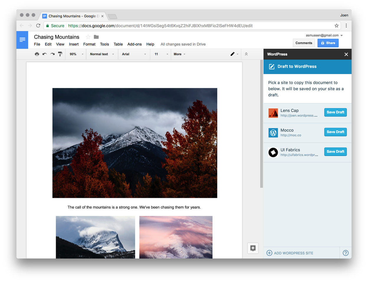 WordPress for Google Docs Lets Multiple Users Collaborate on Content in Real-Time