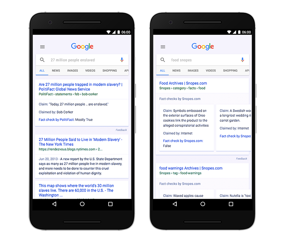 "Google Expands ""Fact Check"" Tag to Search Results and News Articles Worldwide"