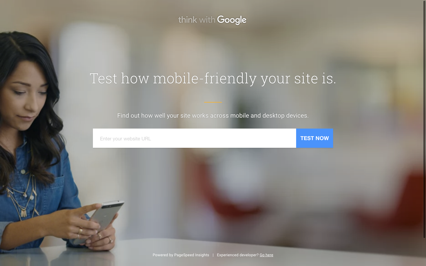 Google's Test My Site tool
