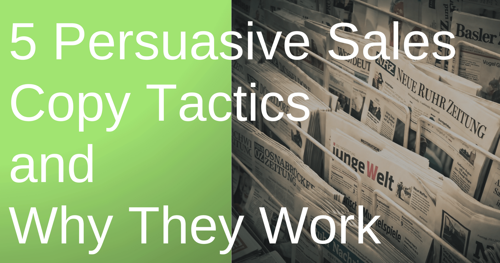 5 Persuasive Sales Copy Tactics & Why They Work by @malleeblue