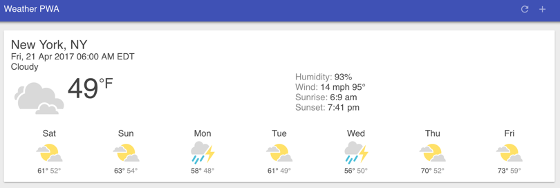Google Weather PWA