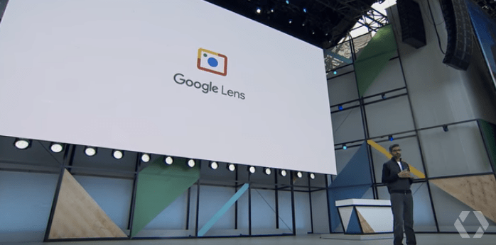 Google CEO Sundar Pichai introducing Google Lens