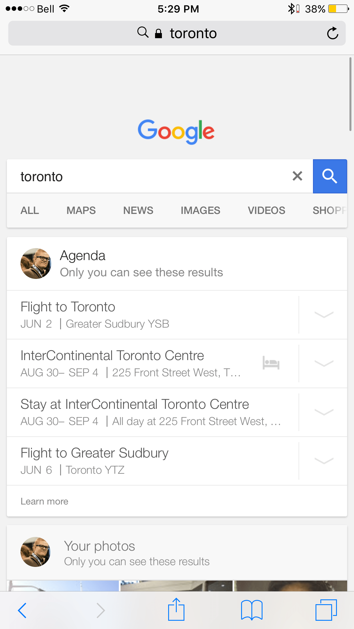 Google Adds 'Personal' Tab to Search Results