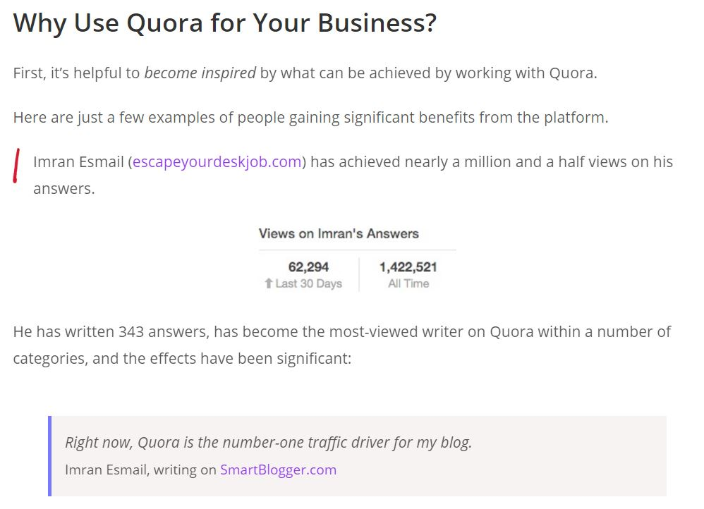 Use Quora for Your Business