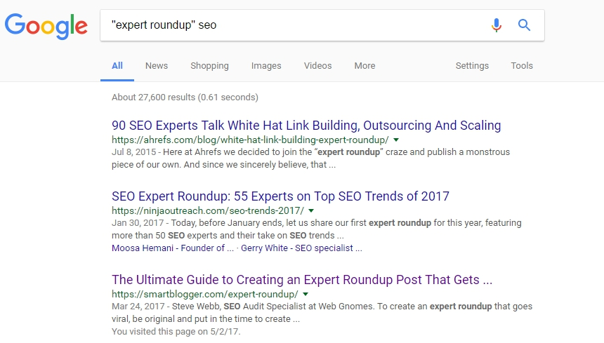 expert roundup article search results