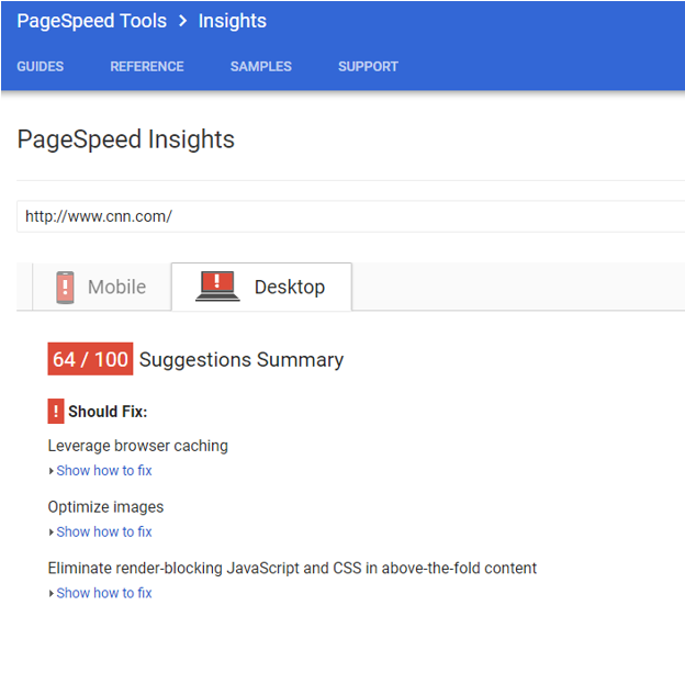 Google Page Speed Tool