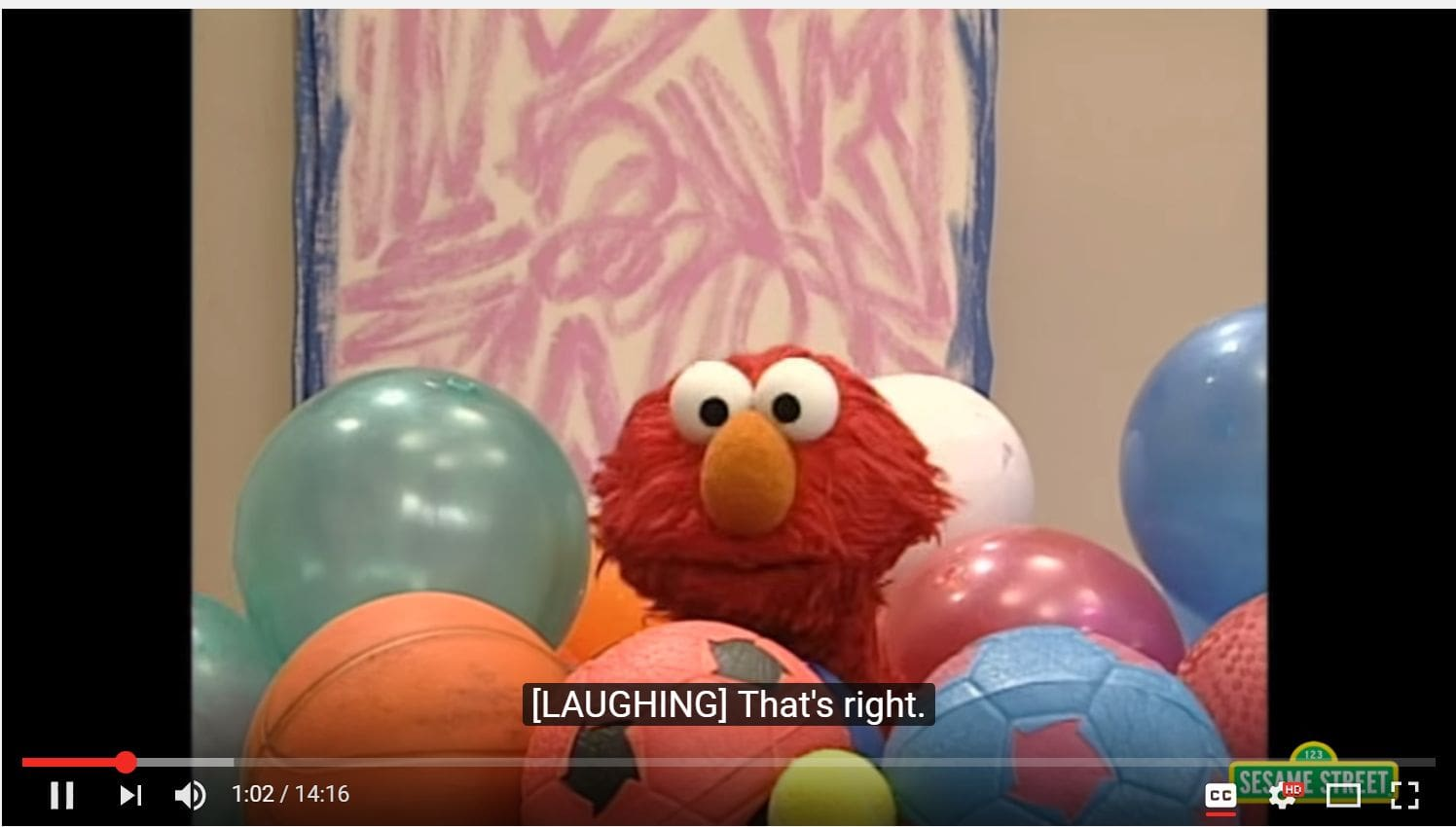 Sesame Street videos that have captions are helpful for those who cannot see them.