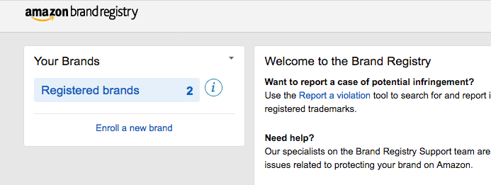 Enrolling in Amazon Brand Registry 2.0