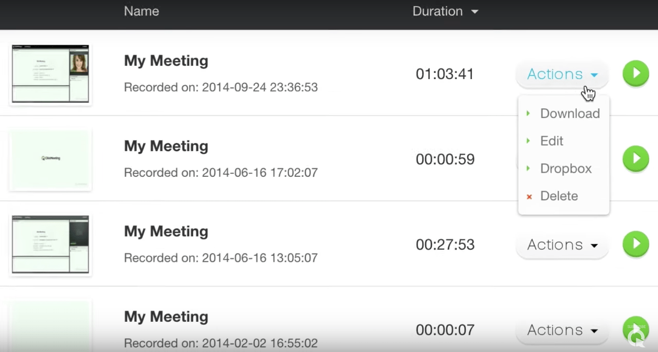 Clickmeeting screenshot