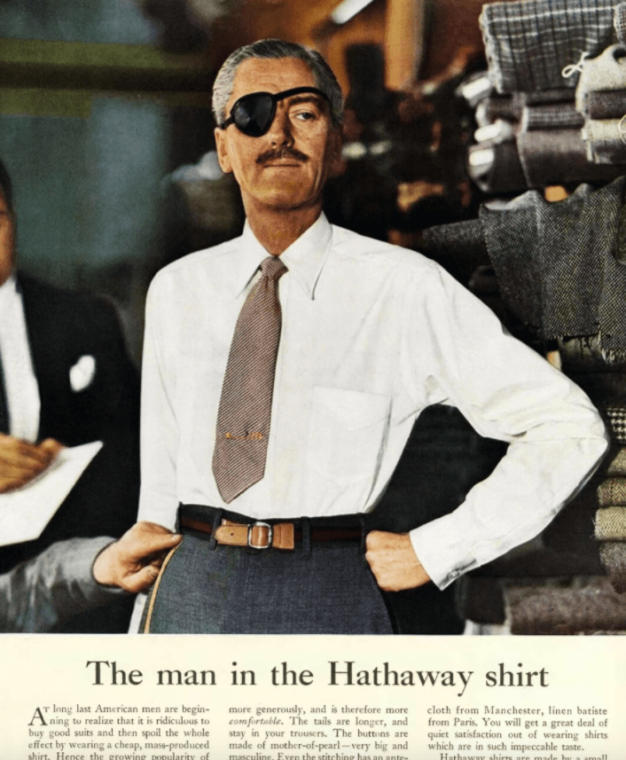 Man in the Hathaway shirt ad