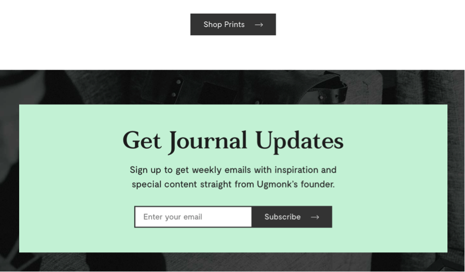 Sample of good design for subscriptions