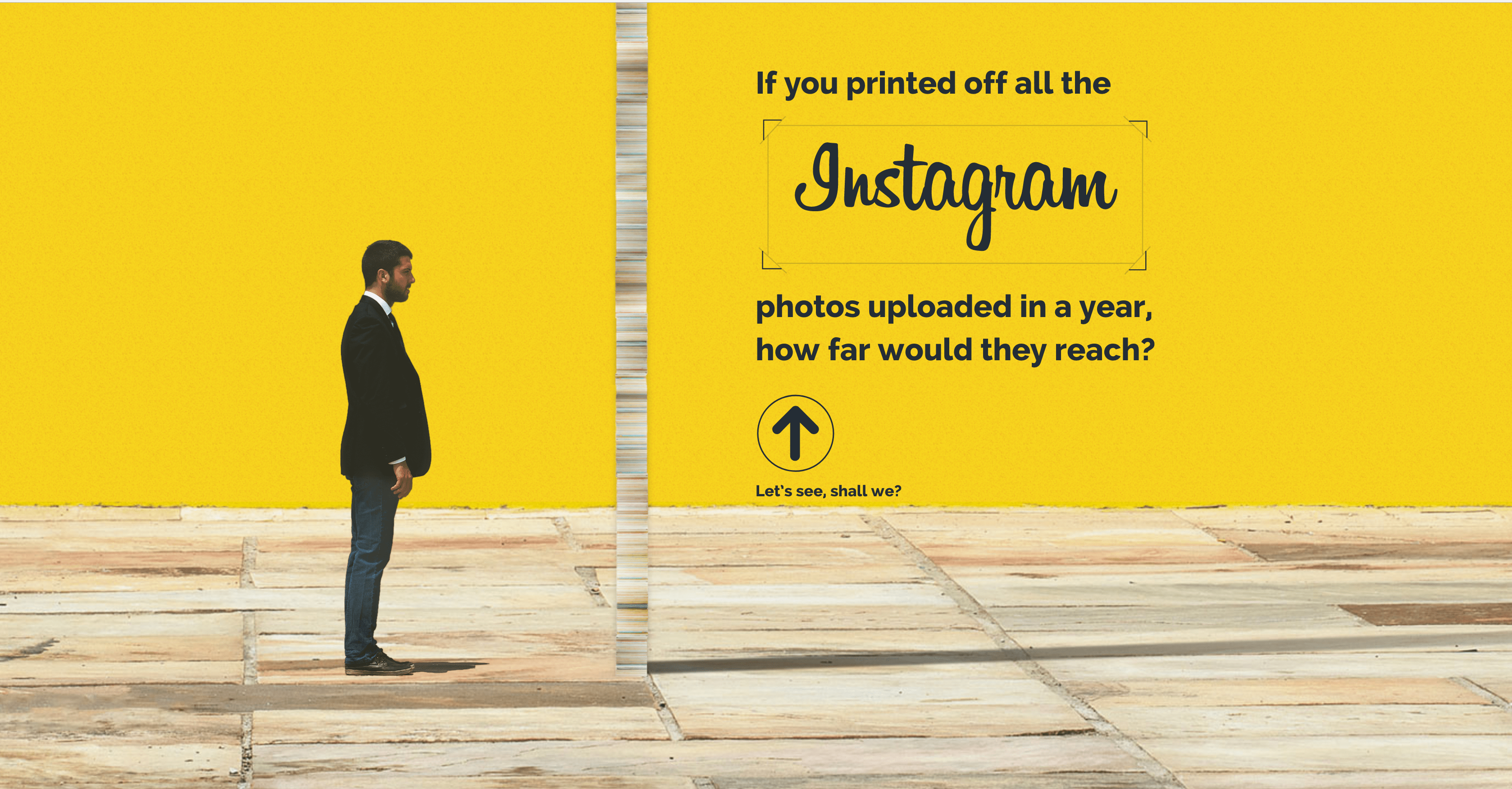 'If You Printed All The Instagram Pics Uploaded in a Year...' Screenshot