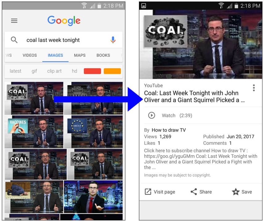Google Image Search Can Now Display Results for Videos
