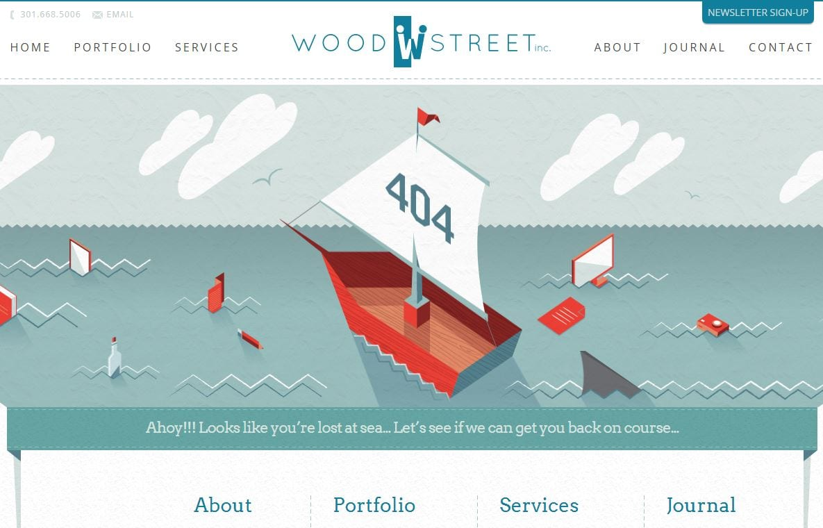 woodstreet 404 not found page example