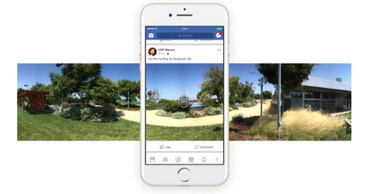 Facebook updating its app to add 360 degree photos