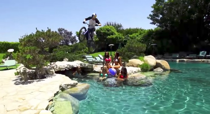 Danny MacAskill at Playboy Mansion