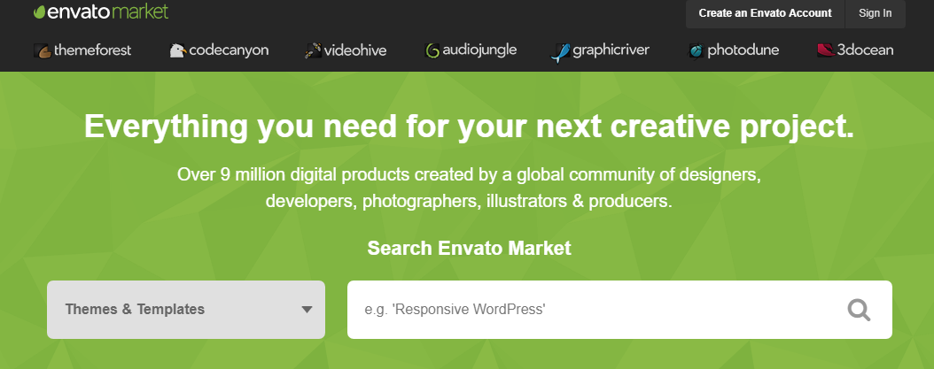 Envato Screenshot