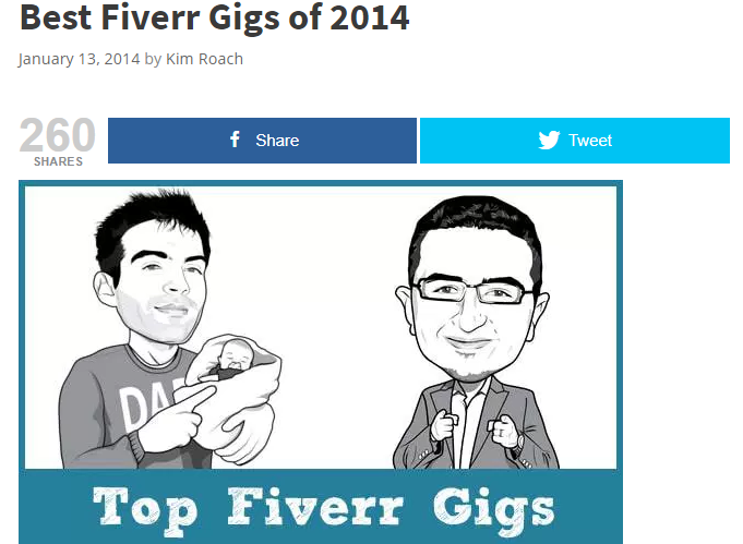 Best Fiverr Gigs of 2014 Screenshot