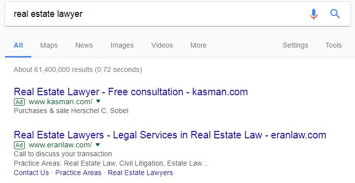 Example Real Estate Lawyer Competitors
