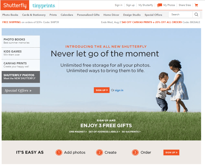Shutterfly Screenshot