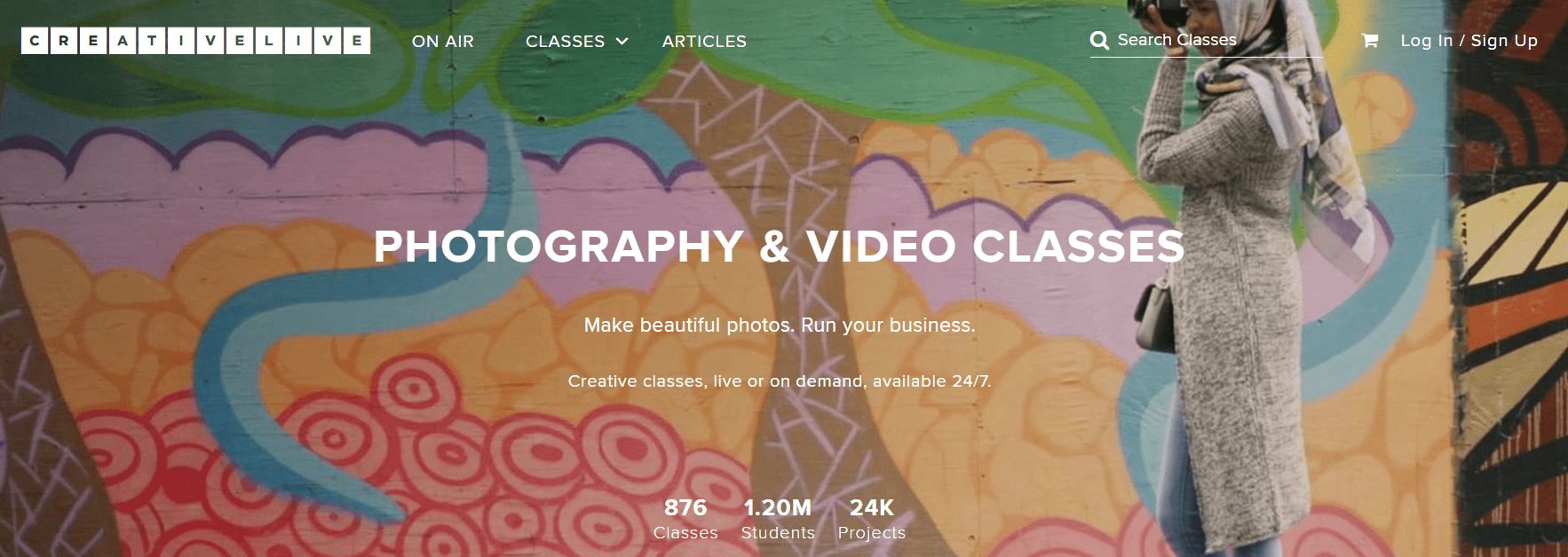 CreativeLive's List of Photography & Videography Classes