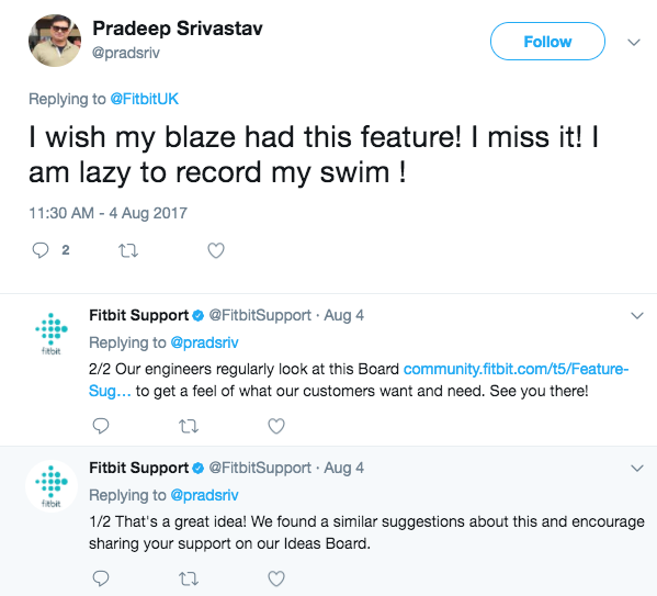 Fitbit Support on Twitter