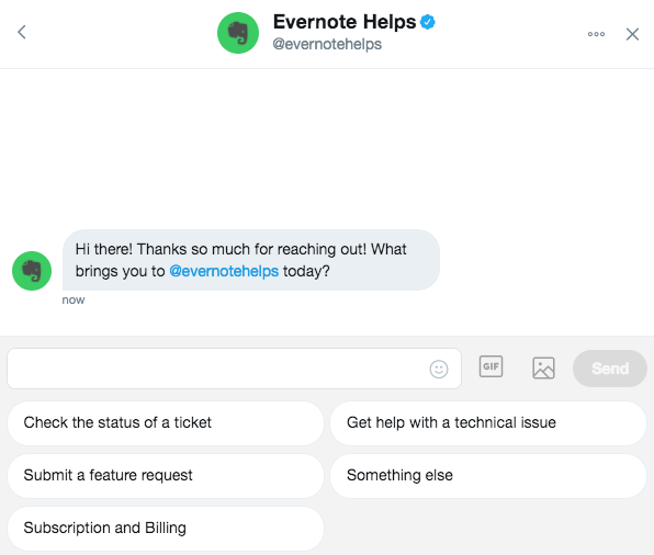 Evernote Helps Twitter