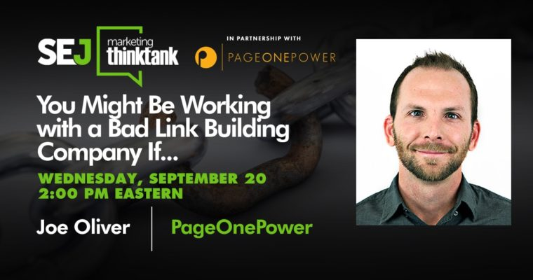 You Might Be Working with a Bad Link Building Company If… [Webinar]
