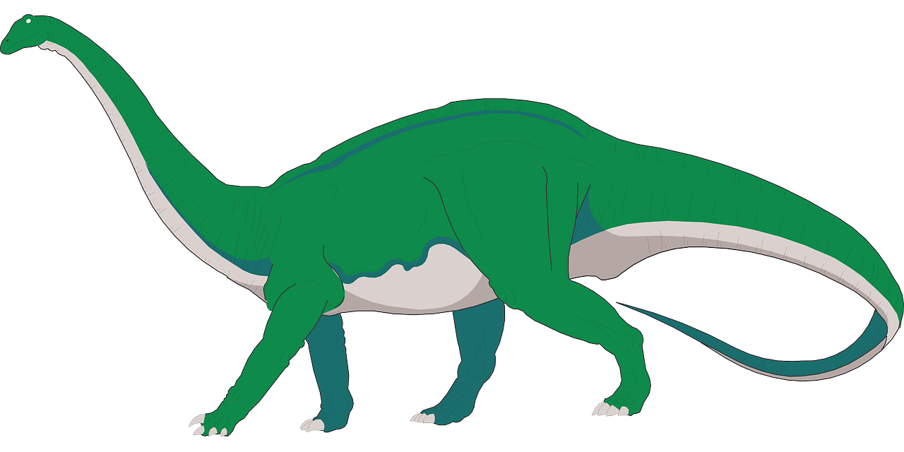 dinosaur with long tail