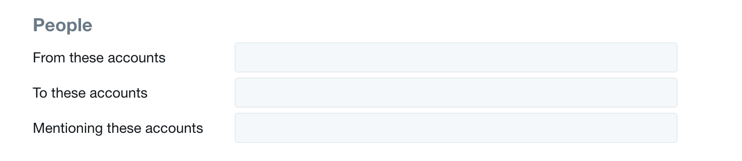 Twitter Advanced Search People