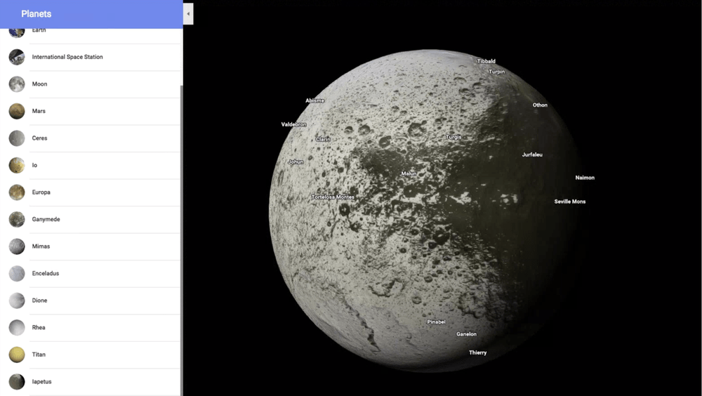 Google Maps Now Lets Users Explore Planets and Moons
