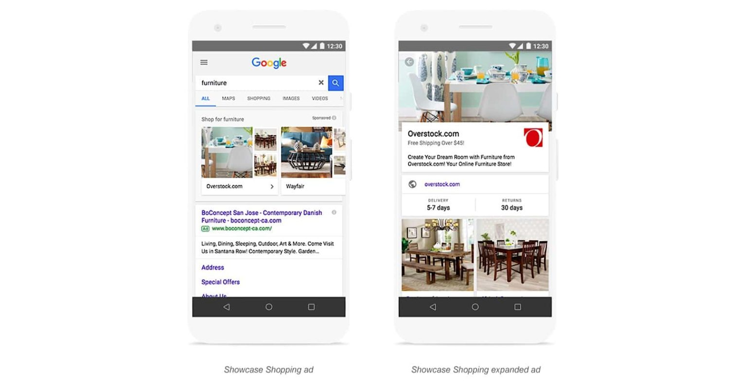 Google AdWords' Showcase Shopping Ads Can Display Collections of Products