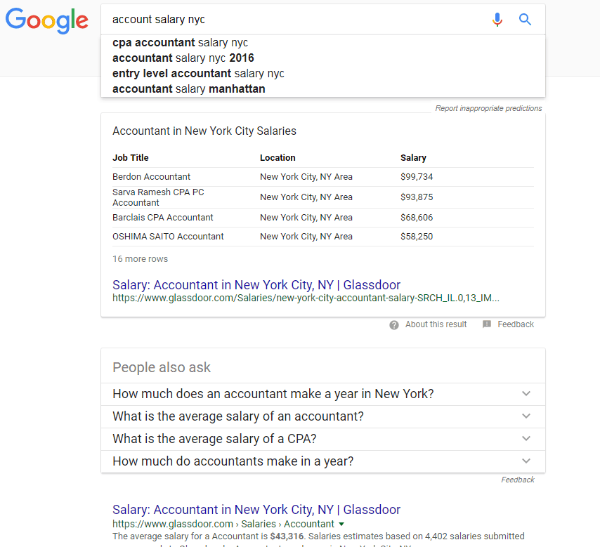google search results for 'account salary nyc'