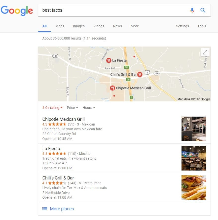 Google local pack was one effect of the Pigeon update that improved local search