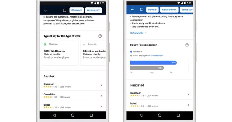 Google's Job Search Will Now Estimate Salaries For All Job Positions