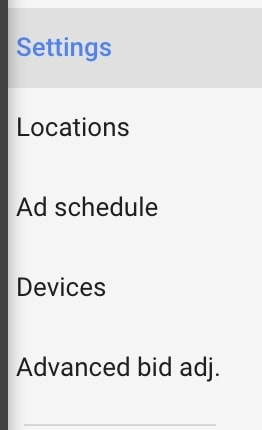 AdWords additional settings