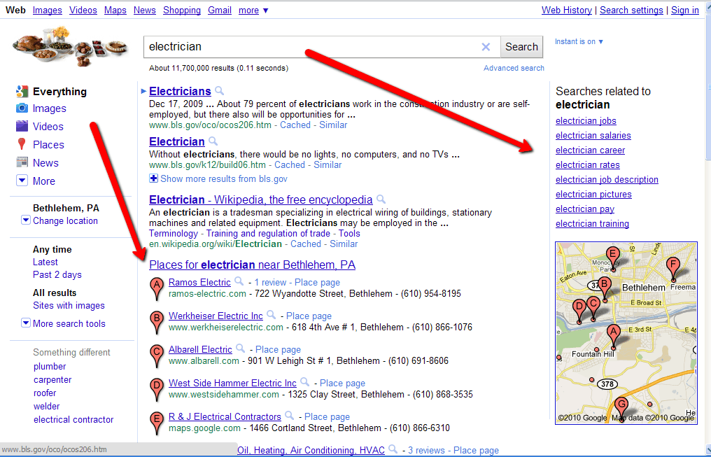 old google serps