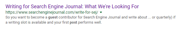 Search Engine Journal guest blogging how to apply