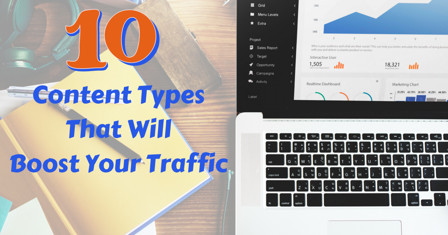 10 Content Types That Will Boost Your Traffic