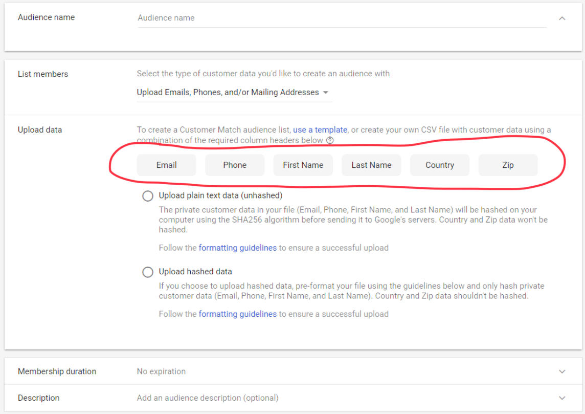 Target Google AdWords Ads by Customer Address and Phone Number
