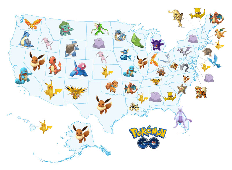 Pokemon Go map created by Decluttr