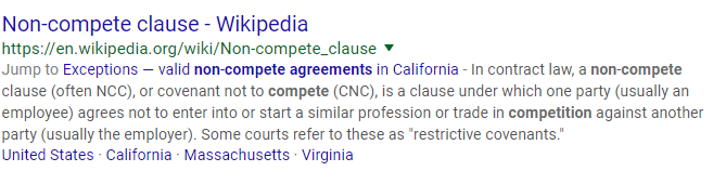 non-compete meta description