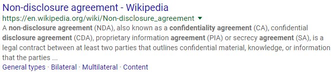 non-disclosure meta description