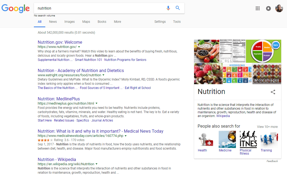 nutrition-now-search-results