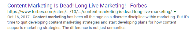 content marketing clickbait