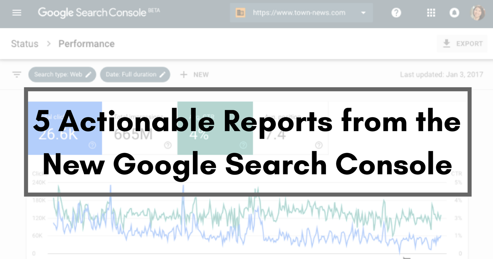 5 actionable reports from the new google search console for Search console