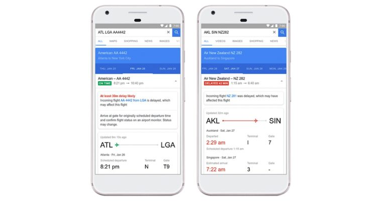 Google Flights to Find Cheaper Fares, Give Reason for Delays
