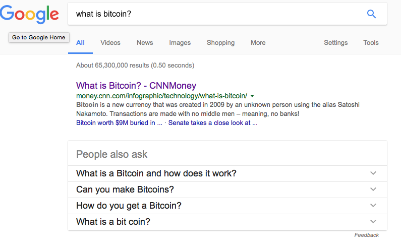 what is bitcoin? - google search