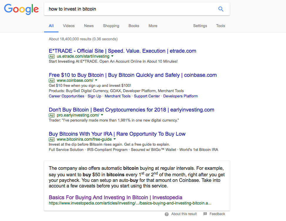 how to invest in bitcoin - google search