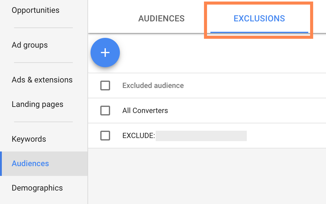 Audience Exclusions in AdWords | SEJ